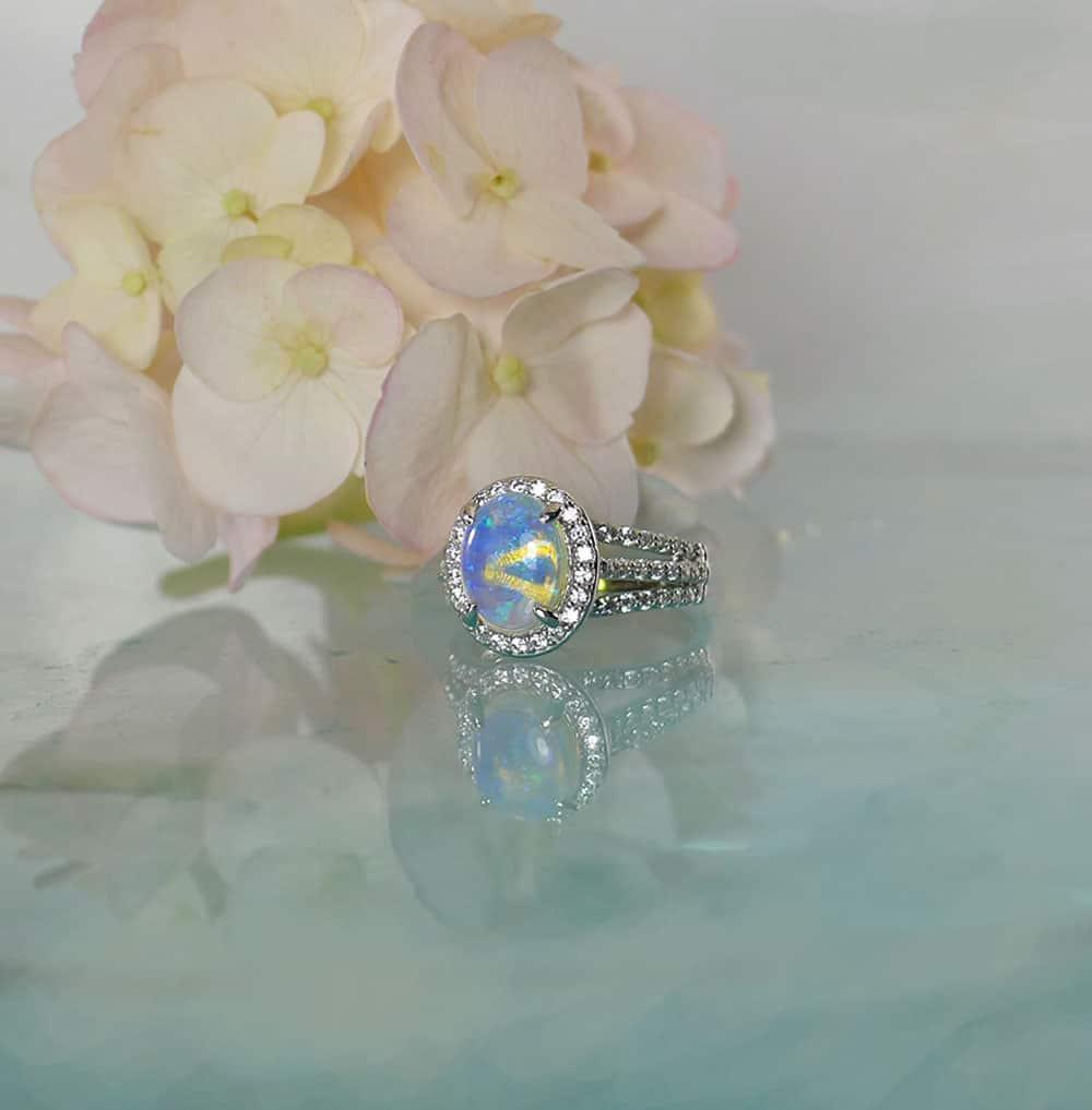 Natural Australian Opal Ring