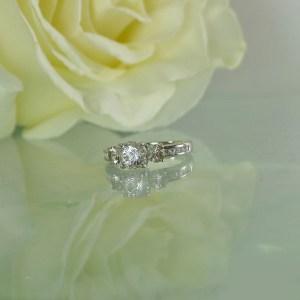 Herkimer Three Stone Ring