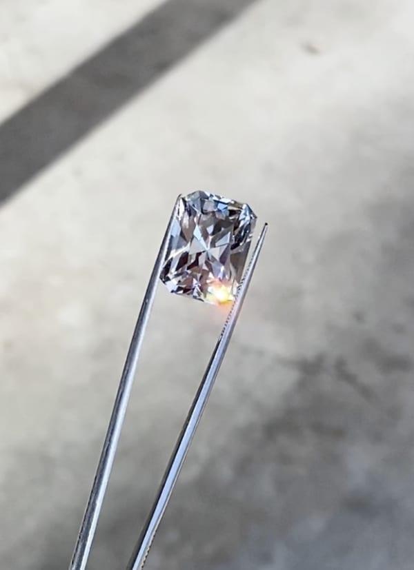 Large radiant cut herkimer