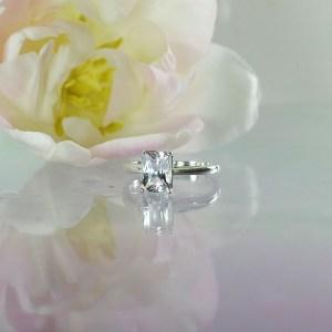 One carat herkimer ring