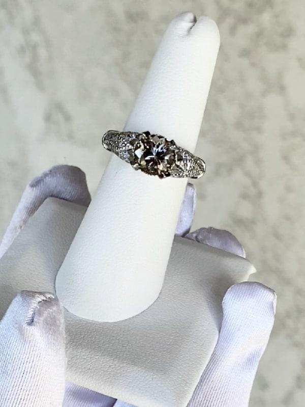 Light champagne herkimer ring