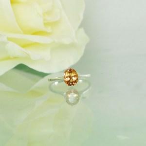 Sherbert tourmaline ring