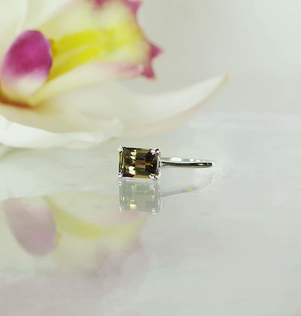 Black Herkimer Ring