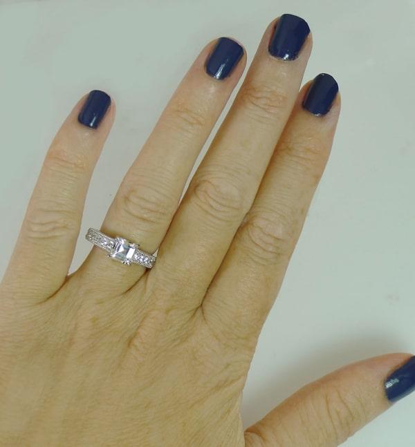 Dainty Asscher Cut Ring