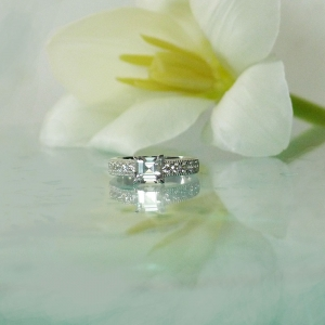 Dainty Asscher Cut Ring
