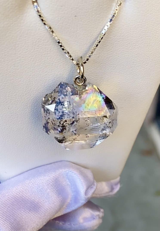 Rainbow Raw Crystal Pendant