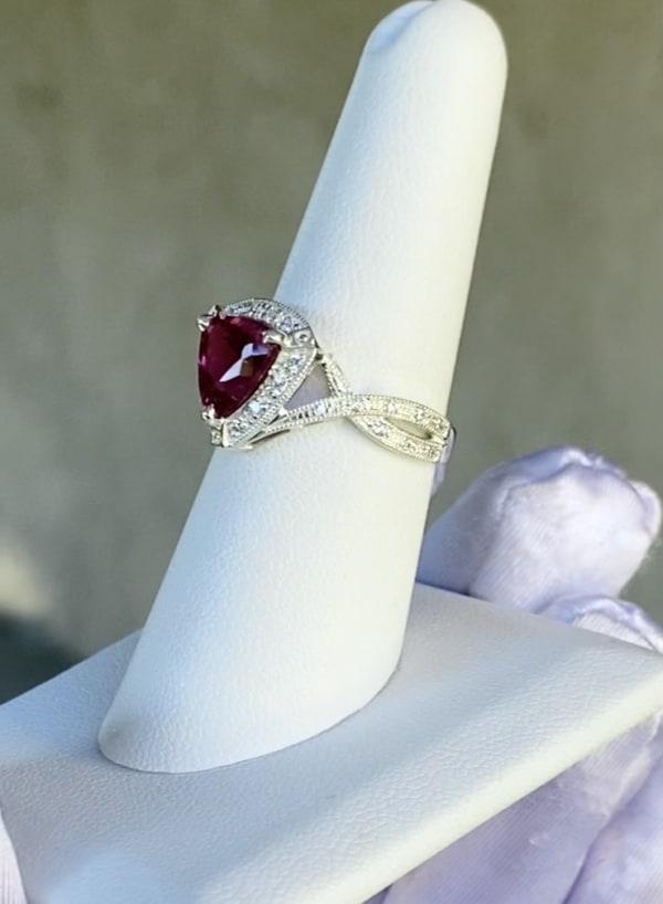 Triangle Tourmaline Ring
