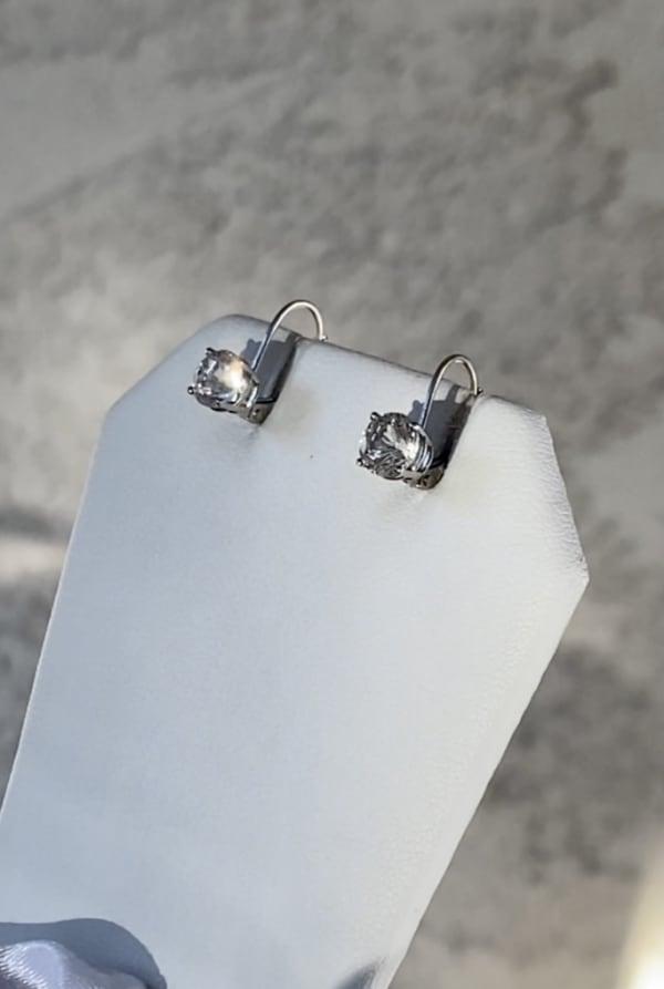 Herkimer White Gold Earrings