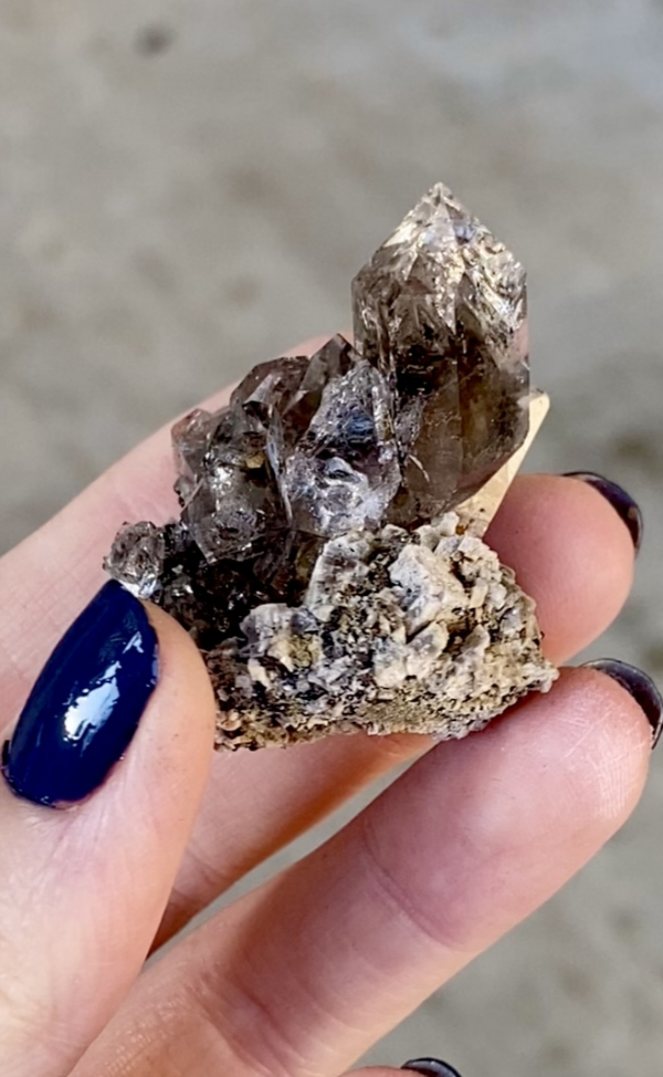 Herkimer calcite cluster