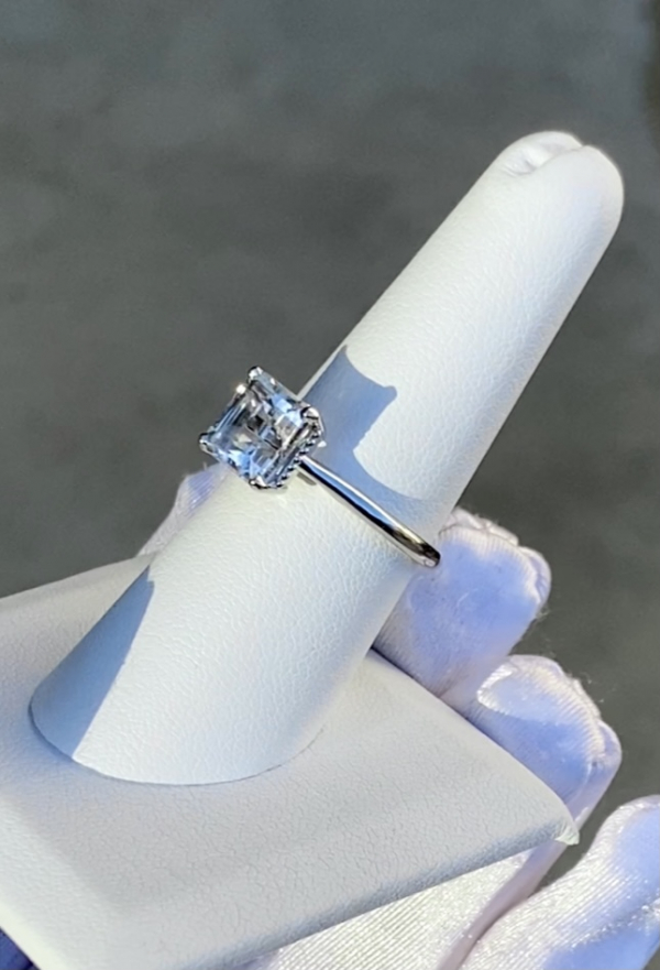 Herkimer Diamond Platinum Ring