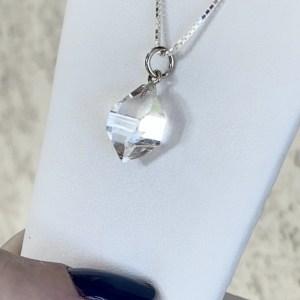 White Gold Crystal Pendant