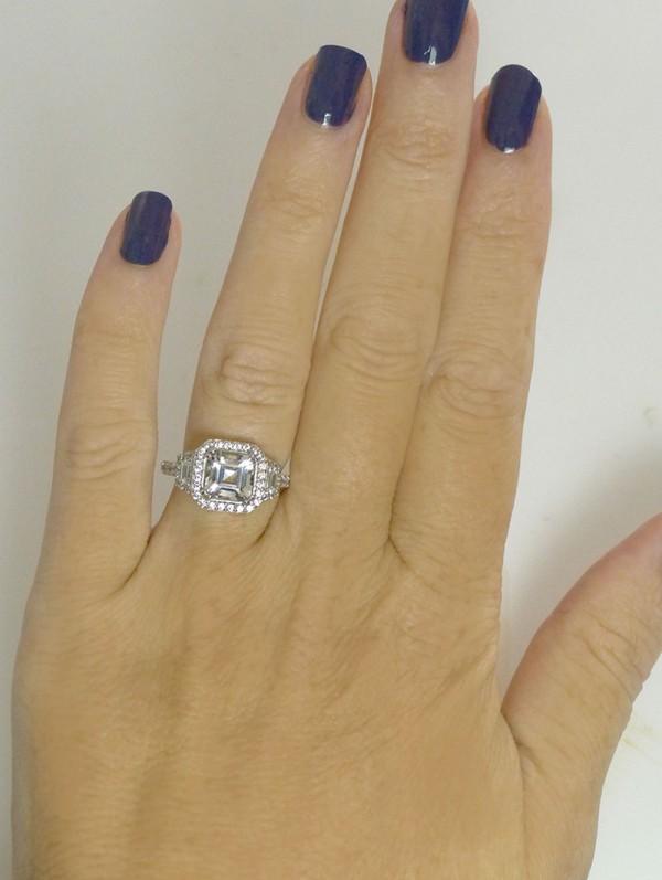 Art Deco Asscher Cut Ring