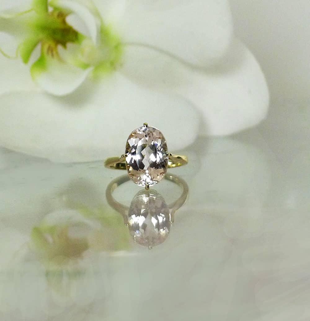 Gold Morganite Ring