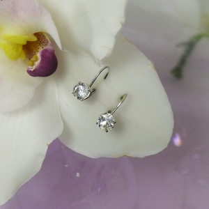Herkimer White Gold Earrings