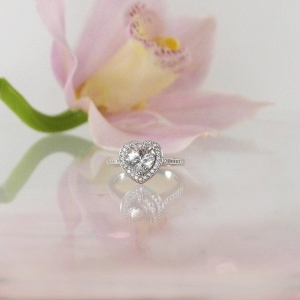 Heart herkimer ring
