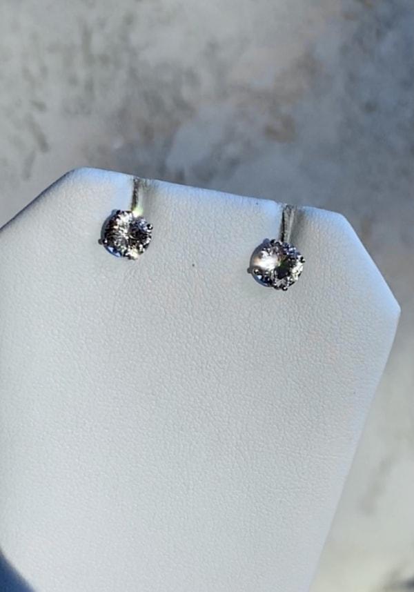 White gold champagne herkimer earrings