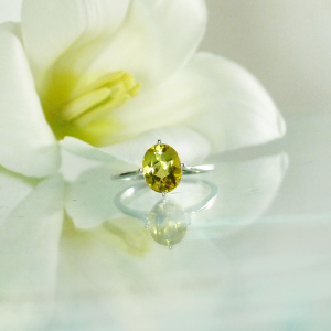 Yellow beryl ring