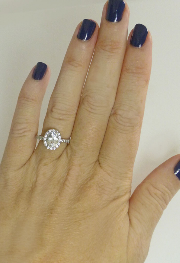 AAA Oval Cut Herkimer Ring
