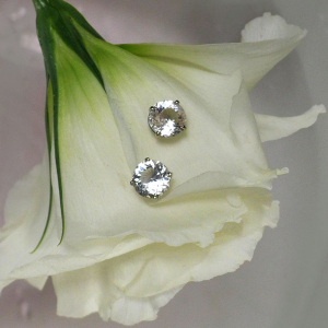 White gold champagne herkimer earrings