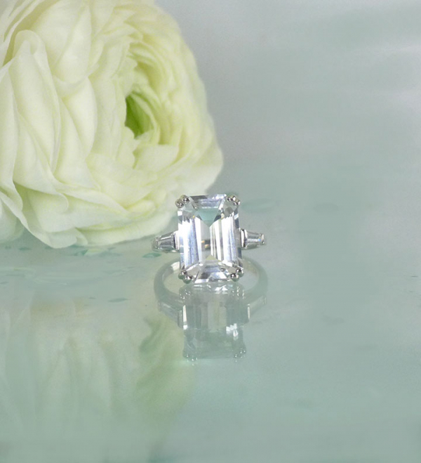Large step cut herkimer ring