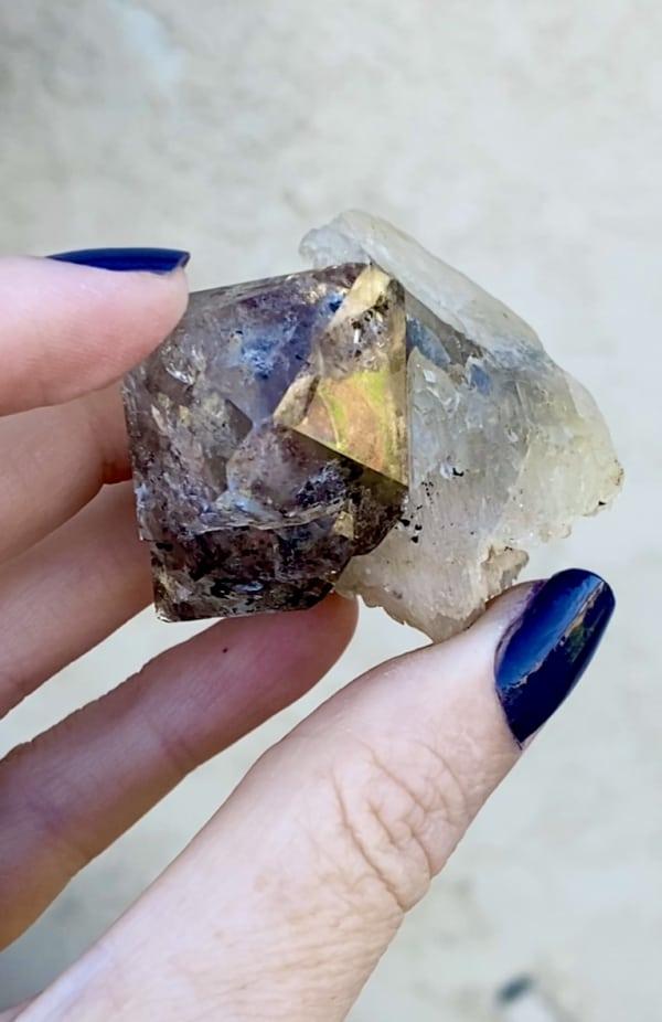 Calcite Herkimer Crystal