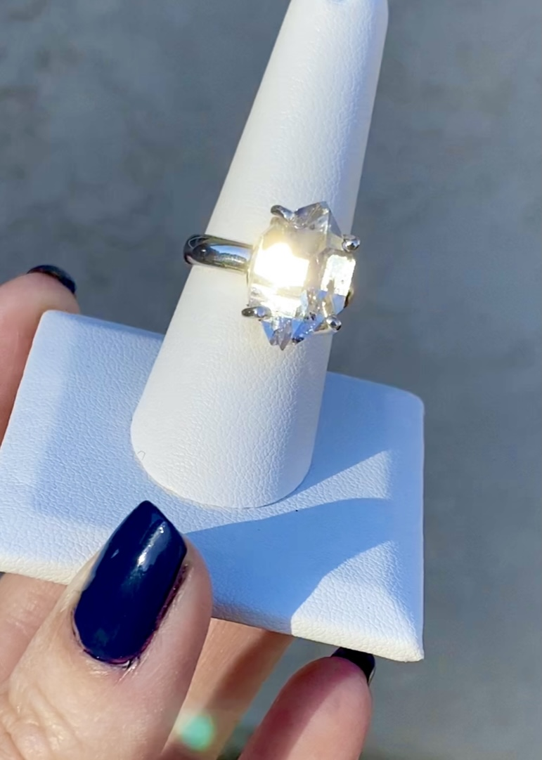 Sterling Raw Crystal Ring