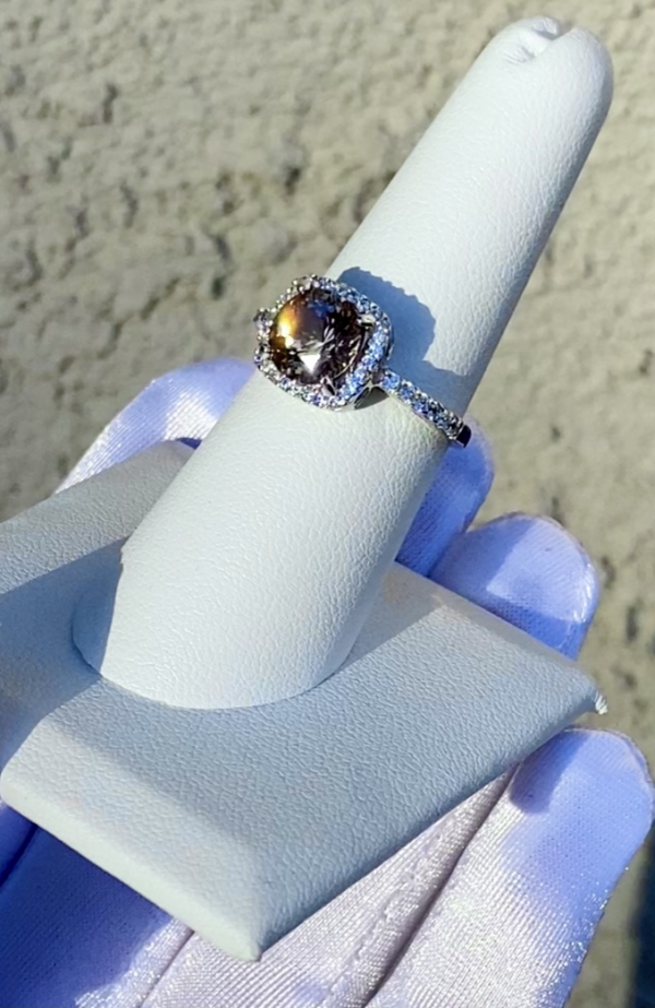 Smoky herkimer halo ring