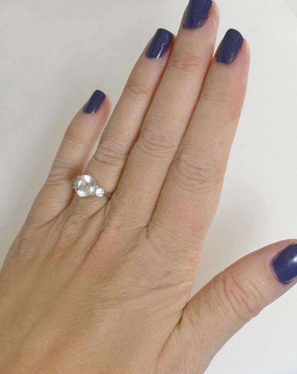 Herkimer Three Gem Ring