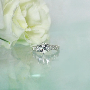 Solitaire Oval Herkimer Ring