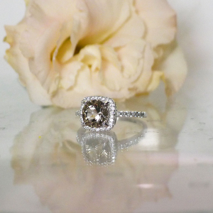 Smoky herkimer halo ring