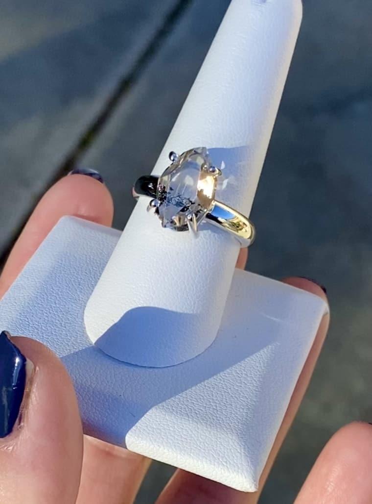 Natural Raw Herkimer Ring