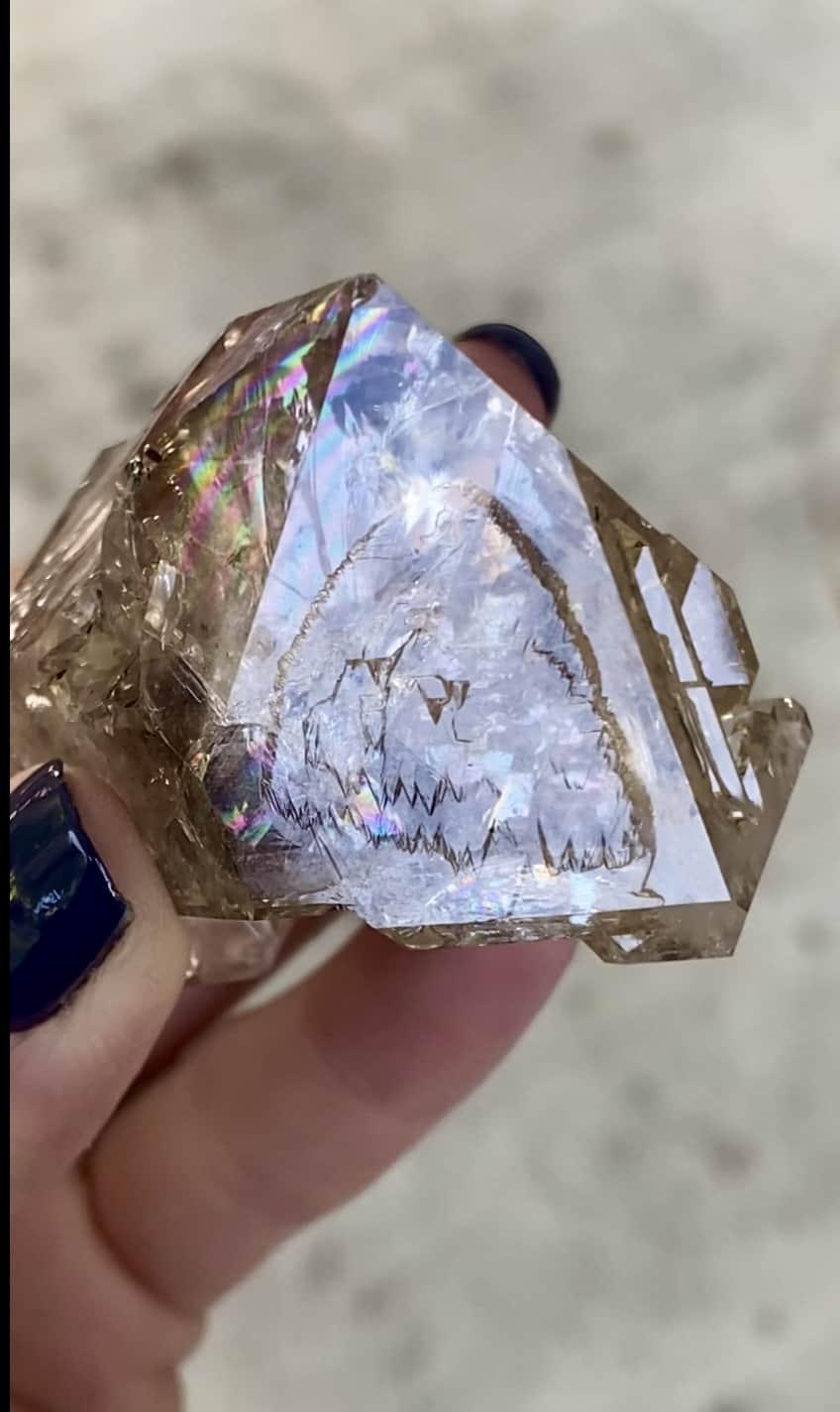 Skeletal record keeper herkimer crystal