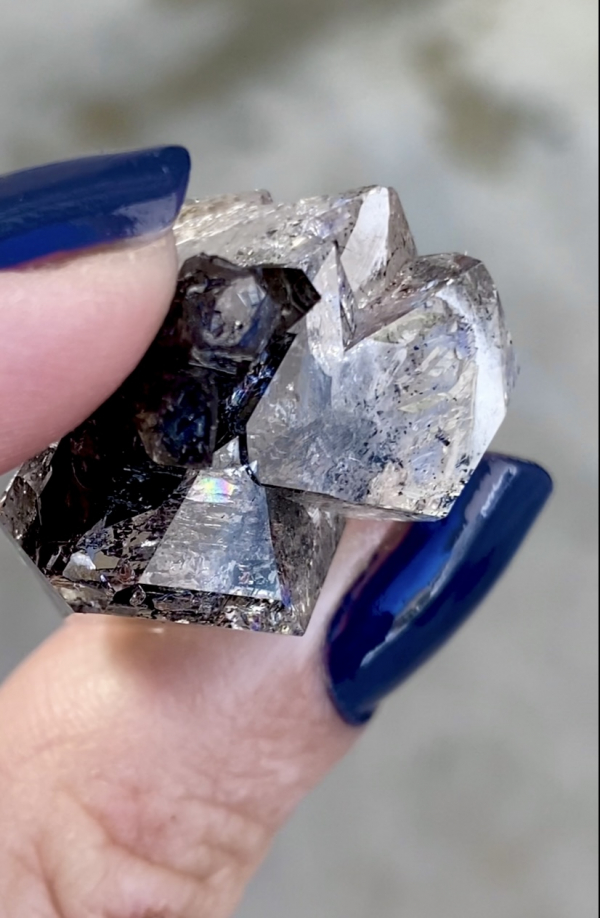 Double Terminated Herkimer Scepter Cluster