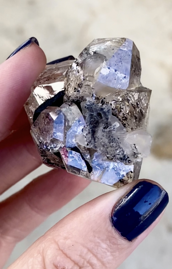 Double Terminated Herkimer Cluster