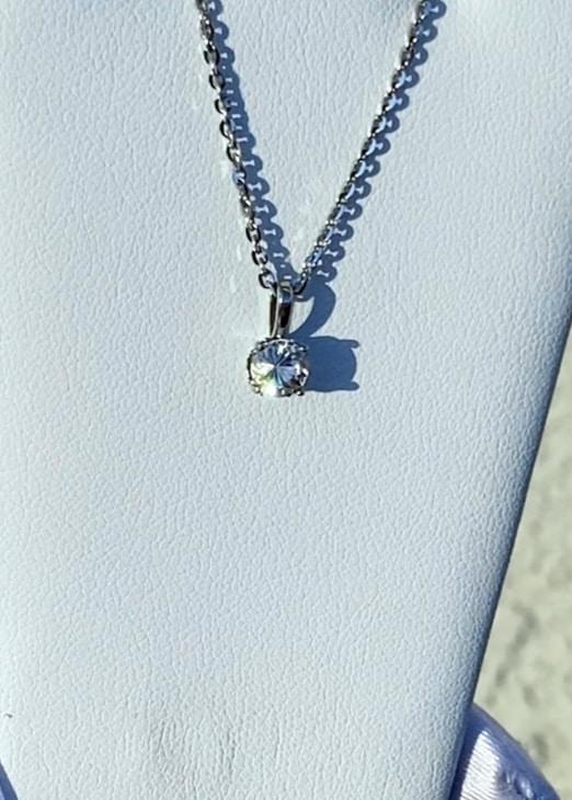 Herkimer solitaire pendant