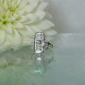 Herkimer Opal Ring