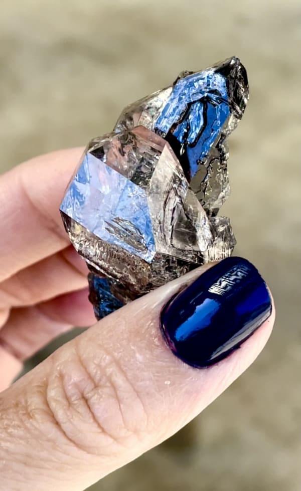 Unique herkimer diamond long scepter