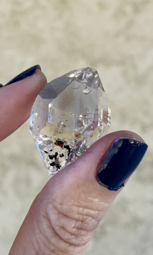 Natural herkimer jewelry point