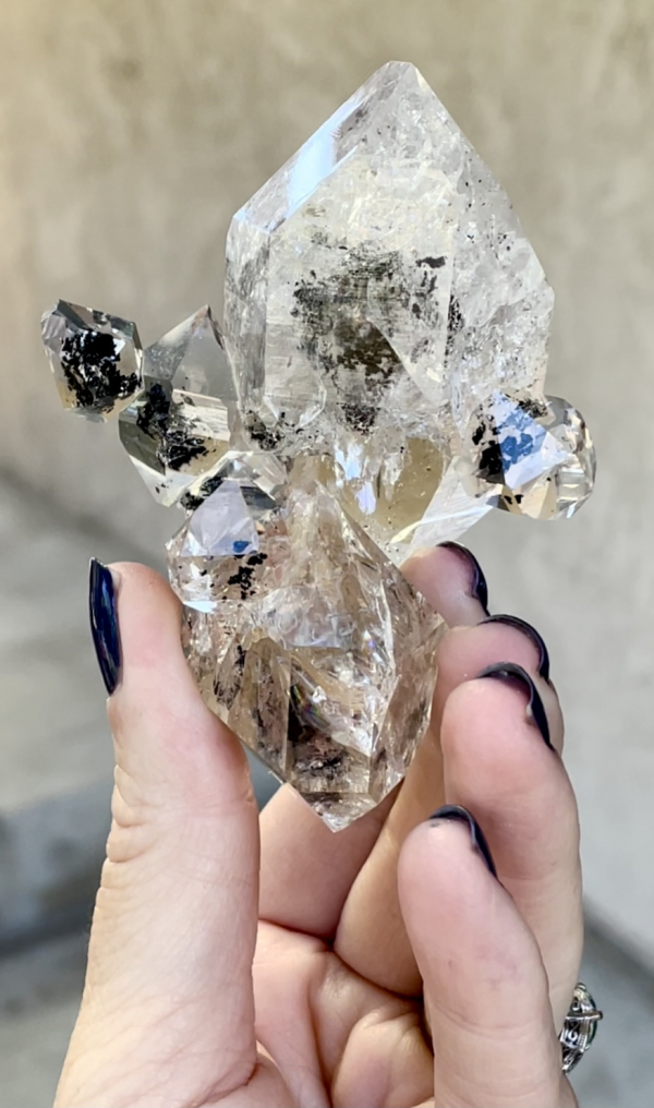 Incredible Herkimer Crystal Cluster