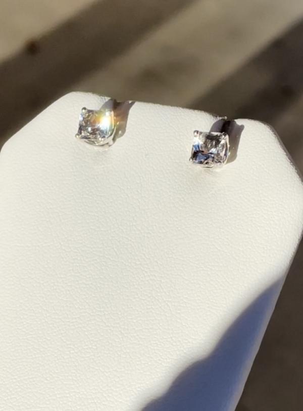 Herkimer Princess Cut Earrings