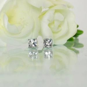 Herkimer Princess Cut Earrings