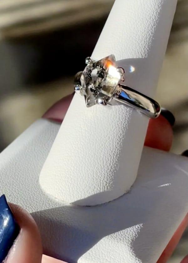 Natural Raw Crystal Ring
