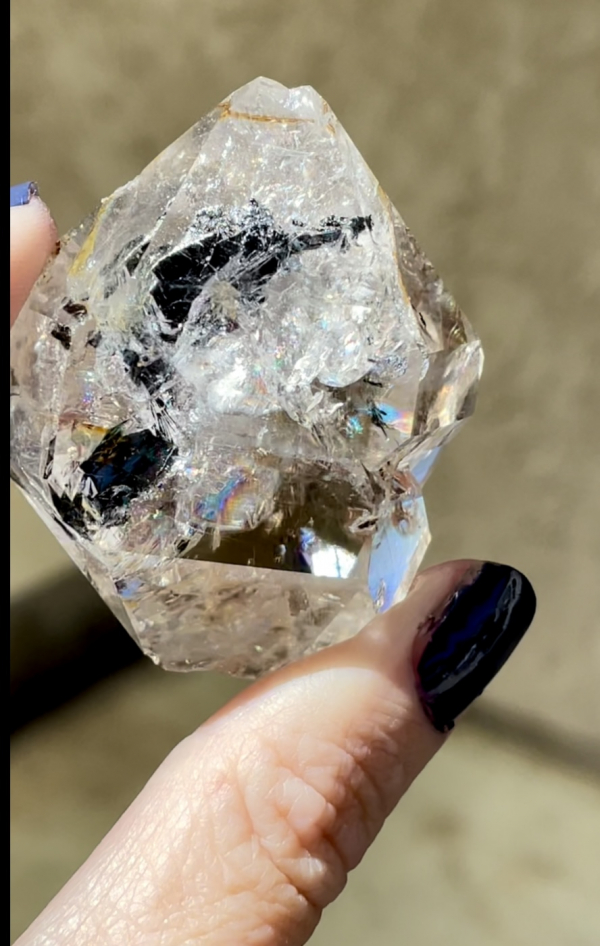Rare double terminated herkimer point