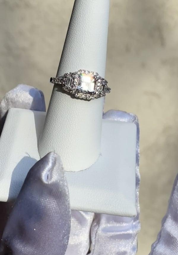 Asscher Art Deco Ring