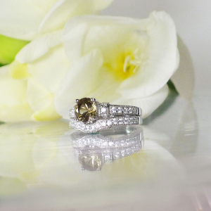 Chocolate herkimer wedding set