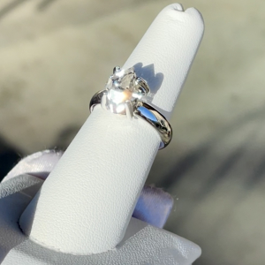 Dainty raw herkimer ring