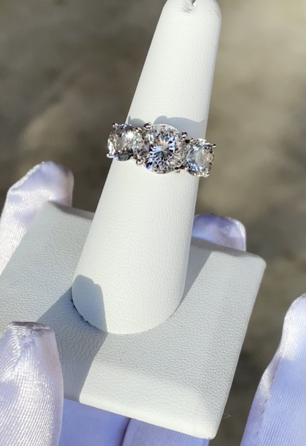 Unique Herkimer Three Gem Ring