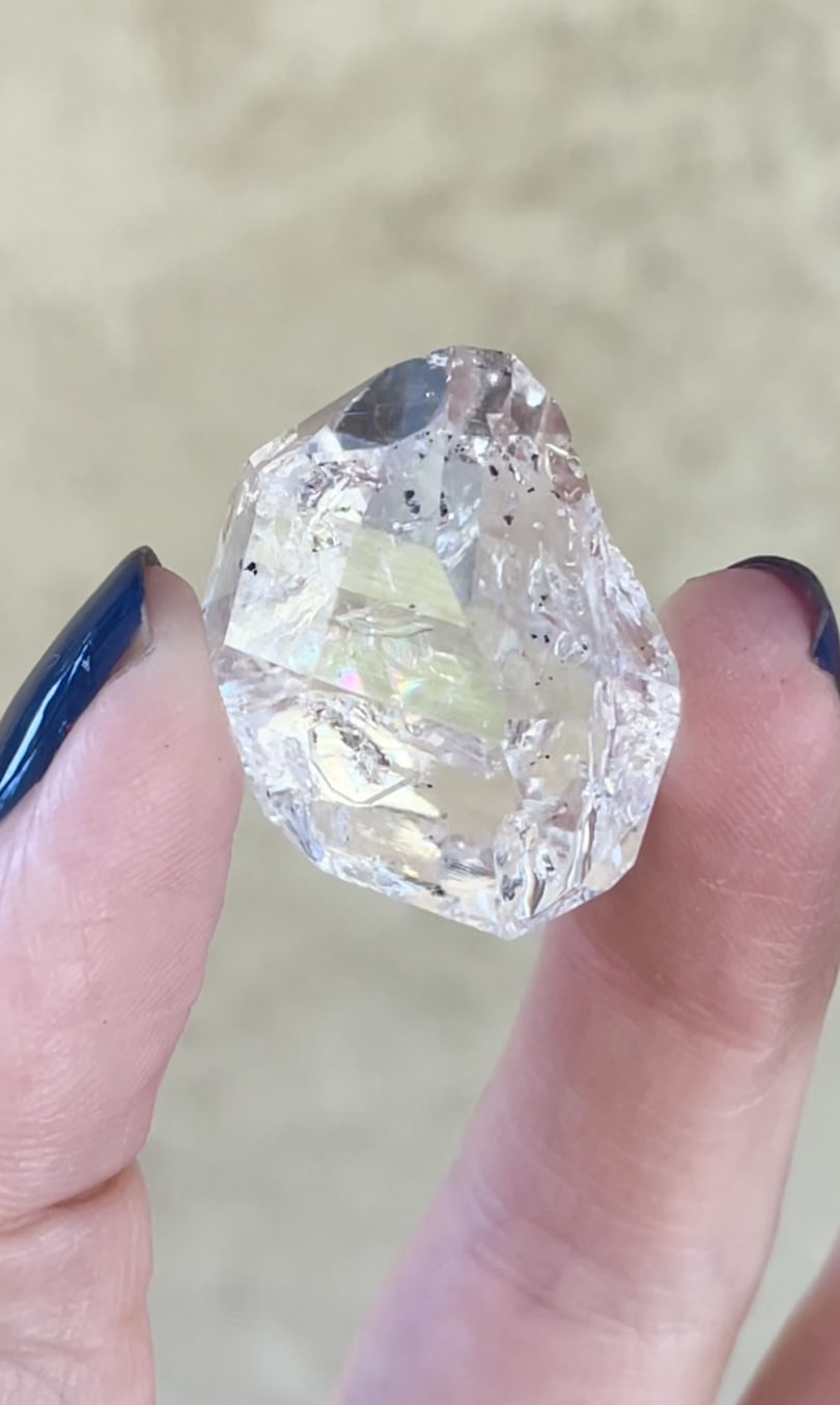 Beautiful herkimer crystal point