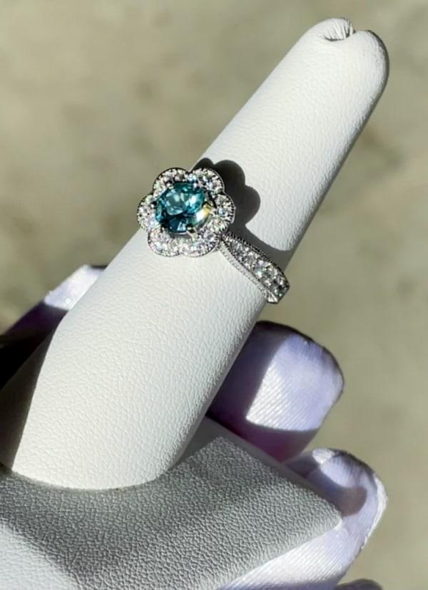 Caribbean Blue Tourmaline Ring