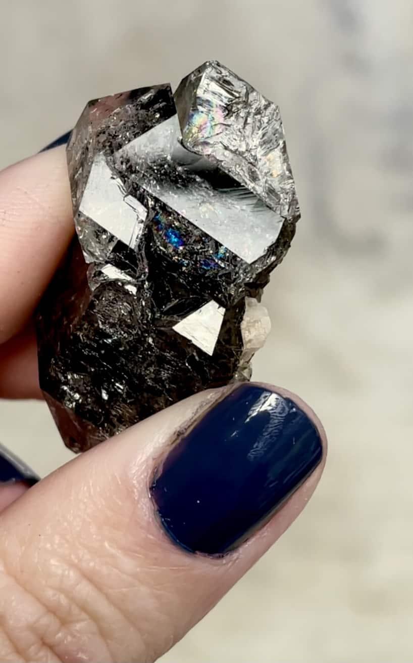 Black Herkimer Crystal